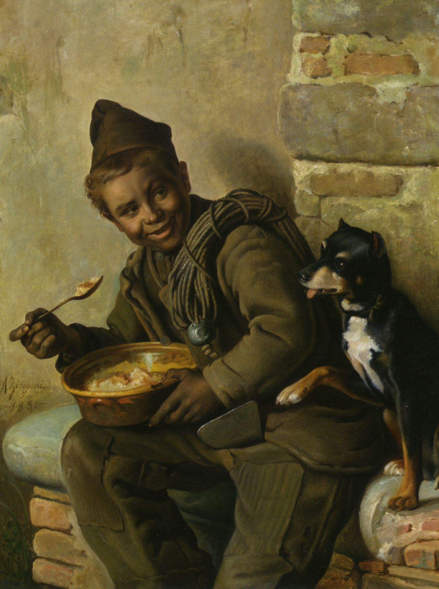 Meal Time For The Chimney Sweep By Aurelio Zingoni